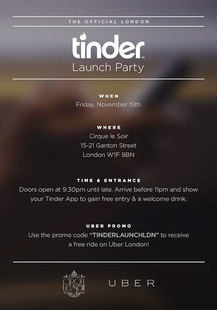 Tinder invitation